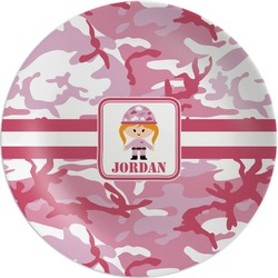 Pink Camo Melamine Plate (Personalized)