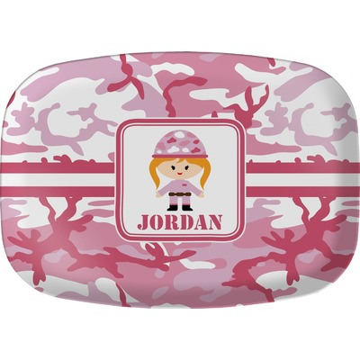 Pink Camo Melamine Platter (Personalized)