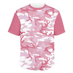 Pink Camo Men's Crew T-Shirt (Personalized)
