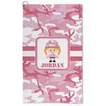 Pink Camo Microfiber Golf Towel - Large (Personalized)