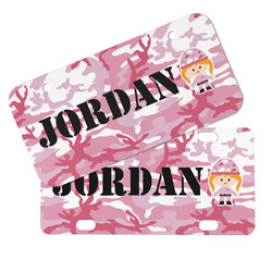 Pink Camo Mini/Bicycle License Plates (Personalized)