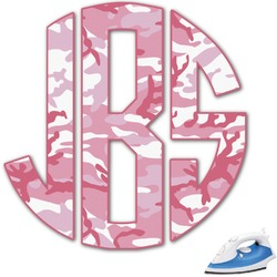 Pink Camo Monogram Iron On Transfer (Personalized)