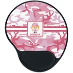Pink Camo Mouse Pad with Wrist Support