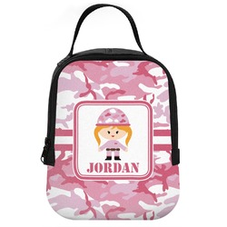 Pink Camo Neoprene Lunch Tote (Personalized)