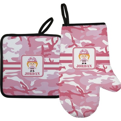 Pink Camo Oven Mitt & Pot Holder (Personalized)