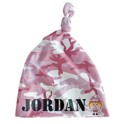Pink Camo Newborn Hat - Knotted (Personalized)