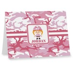 Pink Camo Note cards (Personalized)
