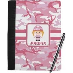 Pink Camo Notebook Padfolio (Personalized)