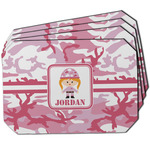 Pink Camo Dining Table Mat - Octagon w/ Name or Text