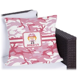 """Pink Camo Outdoor Pillow - 26"""" (Personalized)"""