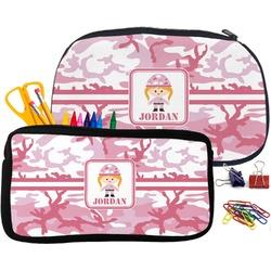 Pink Camo Neoprene Pencil Case (Personalized)