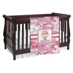 Pink Camo Baby Blanket (Personalized)