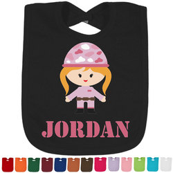 Pink Camo Baby Bib - 14 Bib Colors (Personalized)