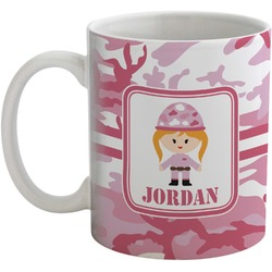 Pink Camo Coffee Mug (Personalized)