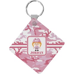 Pink Camo Diamond Key Chain (Personalized)