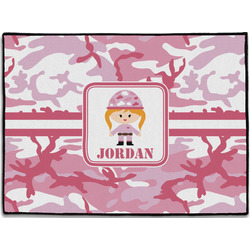 Pink Camo Door Mat (Personalized)