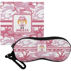 Pink Camo Eyeglass Case & Cloth (Personalized)