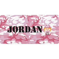 Pink Camo Front License Plate (Personalized)