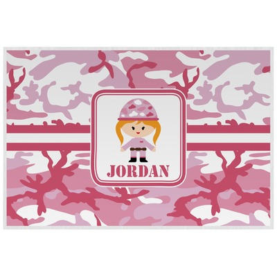 Pink Camo Laminated Placemat w/ Name or Text