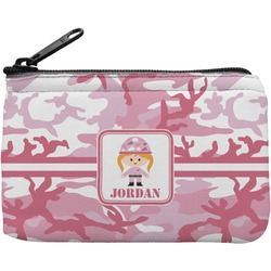 Pink Camo Rectangular Coin Purse (Personalized)