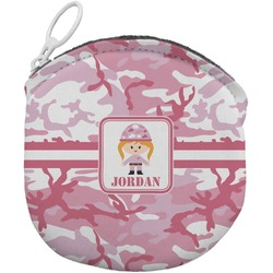 Pink Camo Round Coin Purse (Personalized)