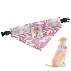 Pink Camo Dog Bandana (Personalized)