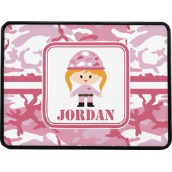 Pink Camo Rectangular Trailer Hitch Cover (Personalized)
