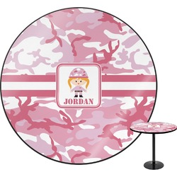 Pink Camo Round Table (Personalized)