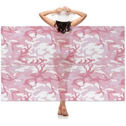 Pink Camo Sheer Sarong (Personalized)