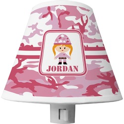 Pink Camo Shade Night Light (Personalized)