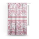 Pink Camo Sheer Curtains (Personalized)