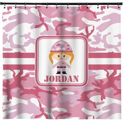 Pink Camo Shower Curtain (Personalized)