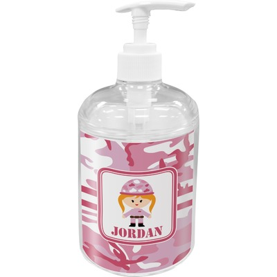 Pink Camo Soap / Lotion Dispenser (Personalized)