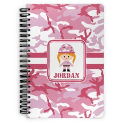 Pink Camo Spiral Bound Notebook (Personalized)