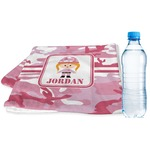 Pink Camo Sports & Fitness Towel (Personalized)
