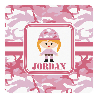 Pink Camo Square Decal (Personalized)