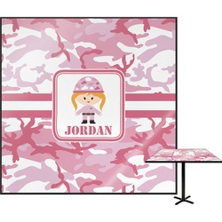 Pink Camo Square Table Top (Personalized)