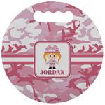 Pink Camo Stadium Cushion (Round) (Personalized)