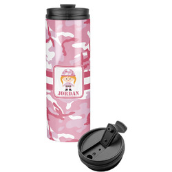 Pink Camo Stainless Steel Tumbler (Personalized)