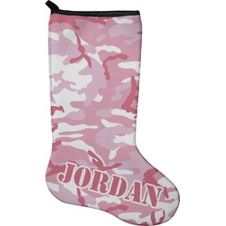 Pink Camo Christmas Stocking - Neoprene (Personalized)