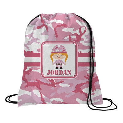 Pink Camo Drawstring Backpack (Personalized)