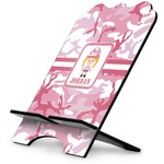 Pink Camo Stylized Tablet Stand (Personalized)