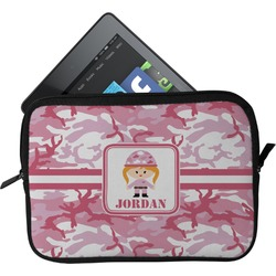 Pink Camo Tablet Sleeve (Personalized)