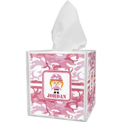 Pink Camo Tissue Box Cover (Personalized)