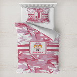Pink Camo Toddler Bedding w/ Name or Text