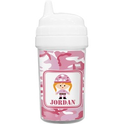 Pink Camo Toddler Sippy Cup (Personalized)