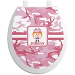 Pink Camo Toilet Seat Decal (Personalized)