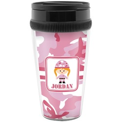 Pink Camo Travel Mugs (Personalized)