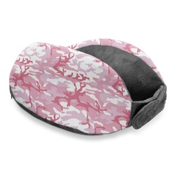 Pink Camo Travel Neck Pillow (Personalized)