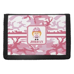 Pink Camo Trifold Wallet (Personalized)